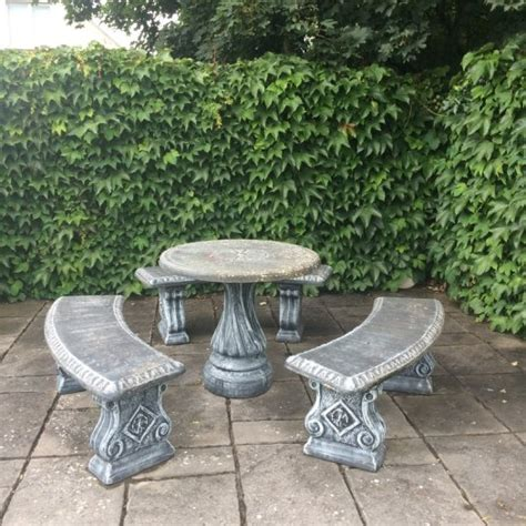 concrete table and benches price concrete garden table and 3 benches for sale in