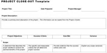 project closeout template project out template planning engineer