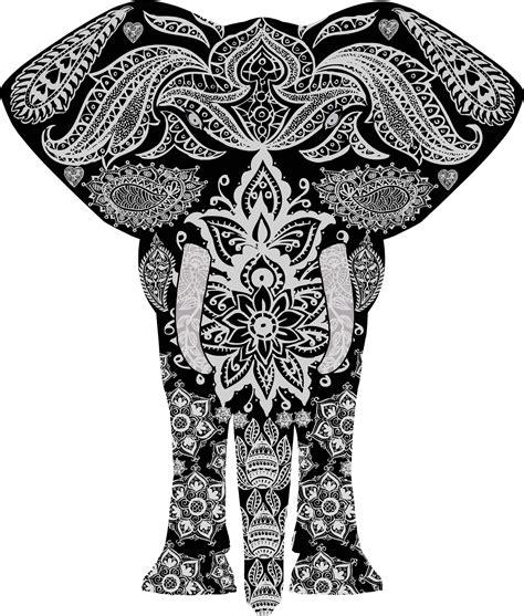 black and white elephant pattern black flowers design joy studio design gallery best design