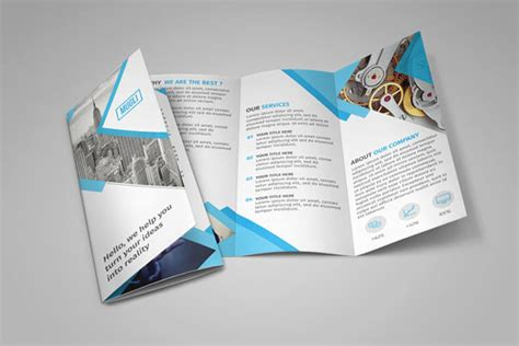 photoshop templates for brochures free soft and clean square indesign brochure template