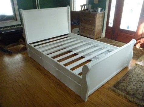 Handmade Sleigh Bed - handmade sleigh bed w trundle by ajc woodworking