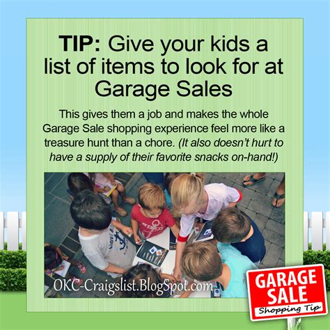 How To Post A Garage Sale On Craigslist by Garage Sale Tip Turn Garage Saling Into A Treasure Hunt