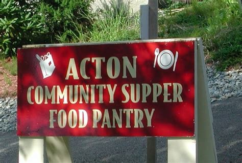 Acton Food Pantry by Facing Hunger In America Acton Community Supper Food Pantry