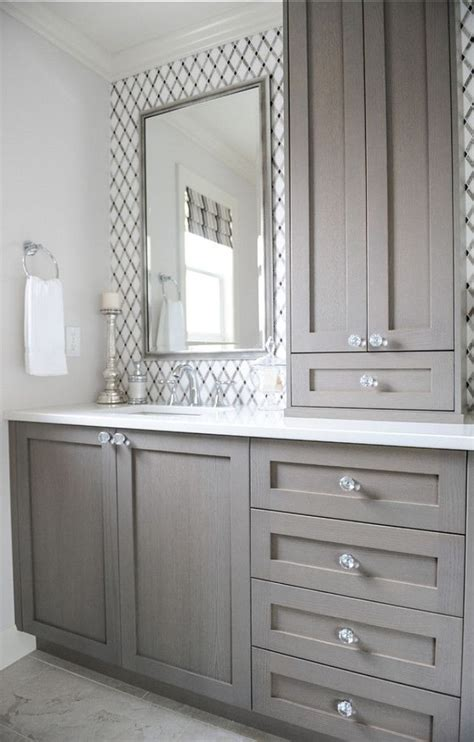 Grey Bathroom Cabinets by Give Your Bathroom A Budget Freindly Makeover Confettistyle