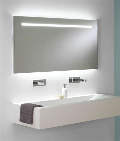 bathroom mirror illuminated wide illuminated bathroom mirror with backlit effect for