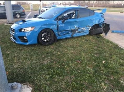 wrecked subaru homeless guy reportedly steals wrecks subaru sti after