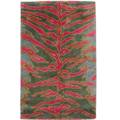 Silk Area Rug by Tiger Silk Small Area Rug For Sale At 1stdibs