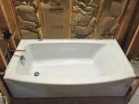 american standard ovation 5 ft right drain bathtub in