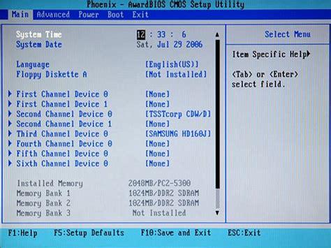 resetting bios hp desktop hp and compaq desktop pcs bios setup utility information