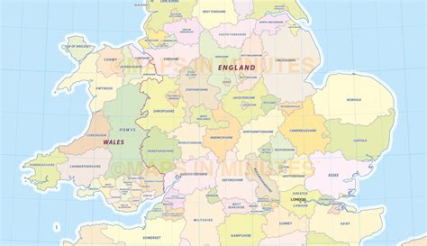 map of counties digital uk simple county administrative map 5 000 000