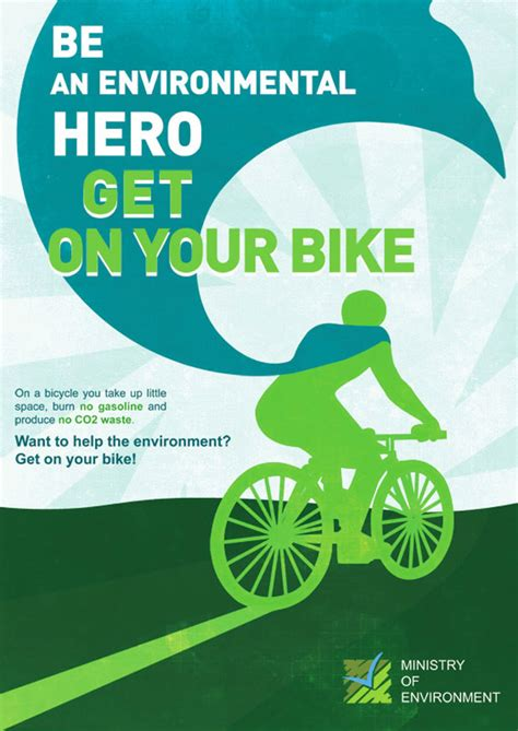 design for the environment environmental hero poster encouraging youth to take