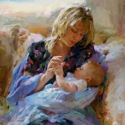 Painting Tender In Mp by Tender Moment By Michael And Inessa Garmash