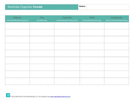 Wardrobe Planner by Capsule Wardrobe Planning Worksheets Essential Wardrobe Tools