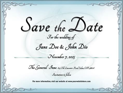 Wedding Save The Date Template 2 By Mikallica On Deviantart Save The Date With Photo Templates