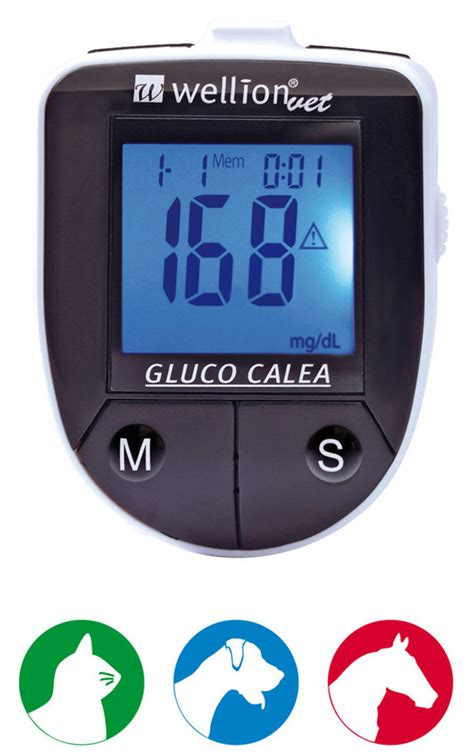 glucose meter for dogs wellion wellionvet gluco calea meter