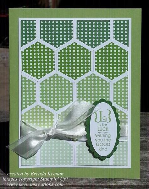 rubber st sets for card st patricks day card using the six sided sler st set