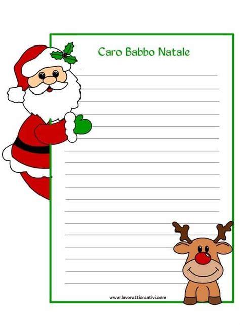 lettere di babbo natale da stare gratis lettere di natale da stare 28 images letterina babbo