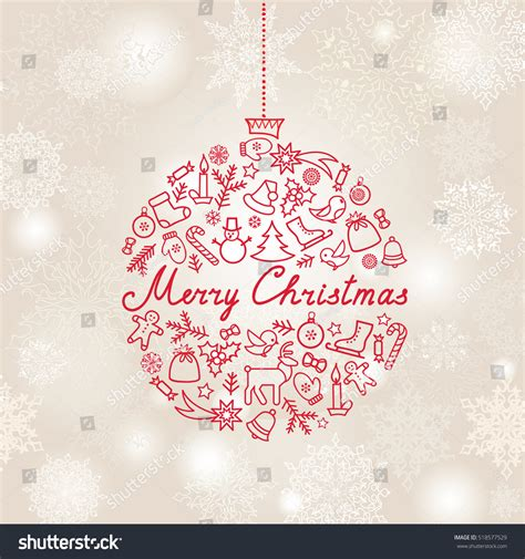 christmas cards shutterstock background doodle greeting stock vector 518577529