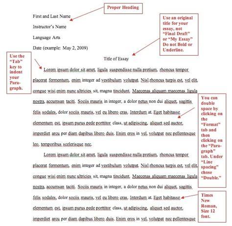 dar essay format
