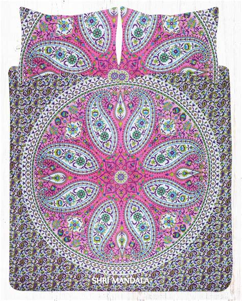 pink paisley comforter pink paisley boho bed set with two matching pillow cases