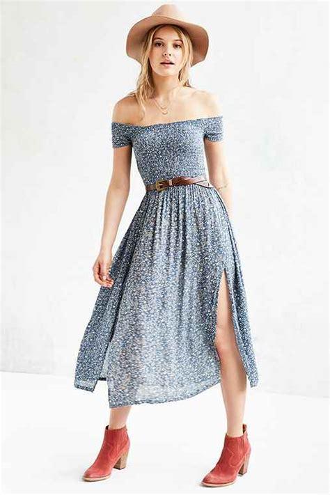 Outfitters Picnic Shirt Dresses kimchi blue picnic smocked the shoulder midi dress