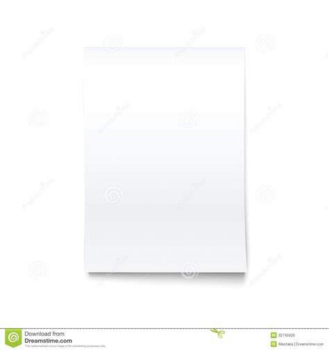 isolated on white blank office paper mock up royalty free
