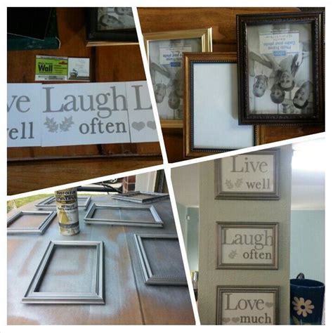 cubicle decor with dollar tree frames and printed lilly dollar tree frames and wall stickers rusto leum flat