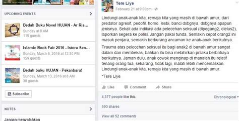 Fb Tere Liye | akun fb netizen ini diblokir facebook karena status