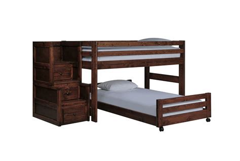 junior loft bed with stairs sedona junior loft bed w tw caster bed jr stair chest