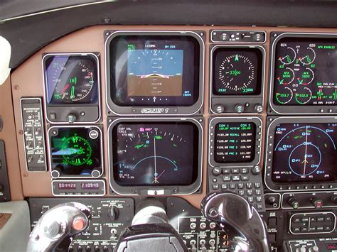 beechcraft starship instrument panel details