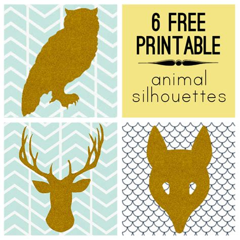Instan Fahira Cutting Modern 6 modern free printable animal silhouettes print and cut out trace onto canvas paint