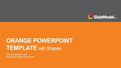 orange powerpoint template with shape icons slidemodel