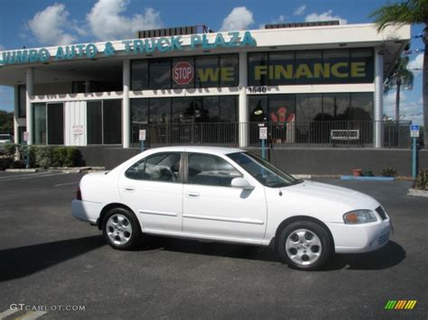 white nissan 2004 2004 cloud white nissan sentra 1 8 s 39740279 photo 7