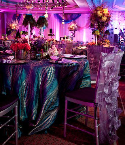 Bros Peacock Purple Waterdrop B44589 david tutera peacock theme tablecloth wedding receptions tablecloths