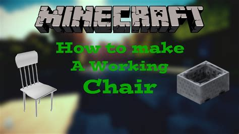How To Make A Working Chair In Minecraft by Minecraft Consoles How To Make A Working Chair