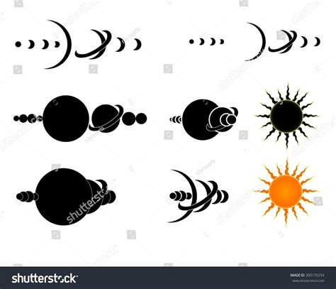 solar system tattoo design stock photo 305175254