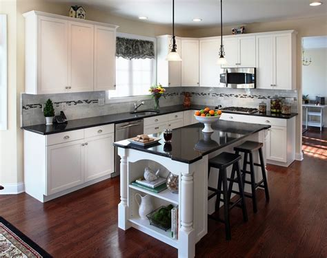 Dark Kitchen Cabinets With White Doors Quicua Com Kitchens With White Cabinets And Black Countertops