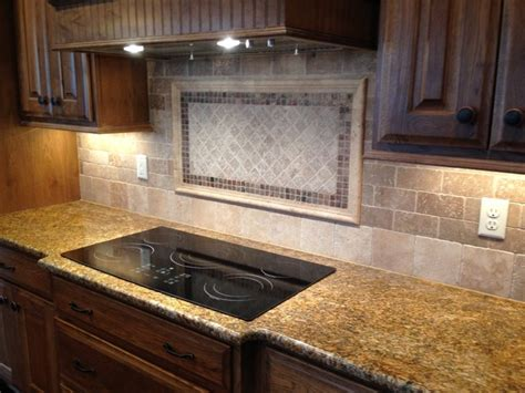 Rock Backsplash Kitchen Tile Kitchen Backsplash