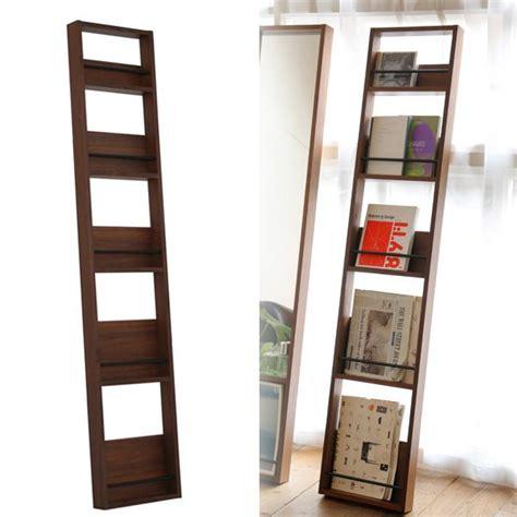 Magazine Display Rack Wall by Magazine Rack Wall Hangings Slim Wooden Europe