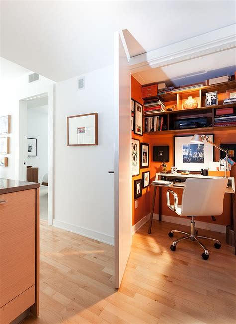 secret office trend 25 vibrant home offices with bold orange brilliance