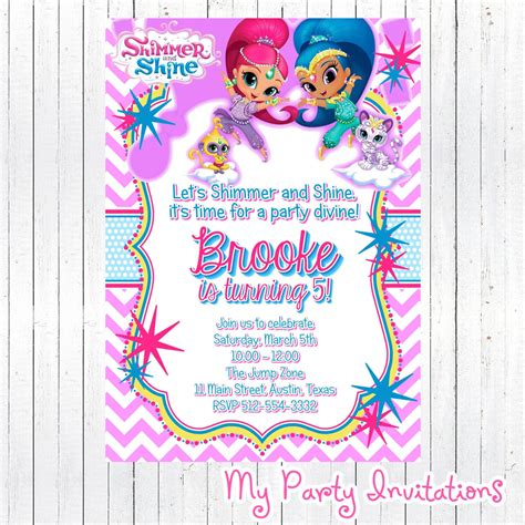 happy birthday to you shimmer and shine step into reading books shimmer and shine birthday invitation diy digital file