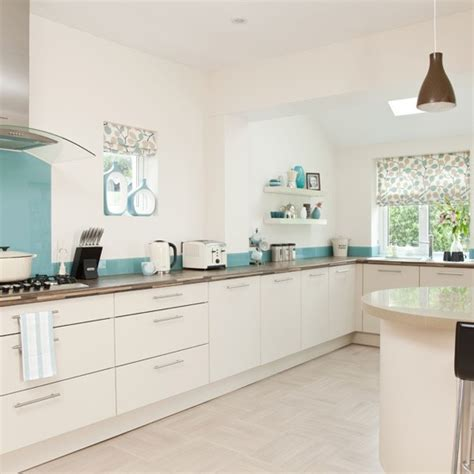 White And Blue Kitchen Cabinets White And Blue Kitchen Modern Kitchen Designs Housetohome Co Uk
