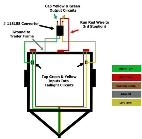 trailer light wiring color diagram trailer parts diagram