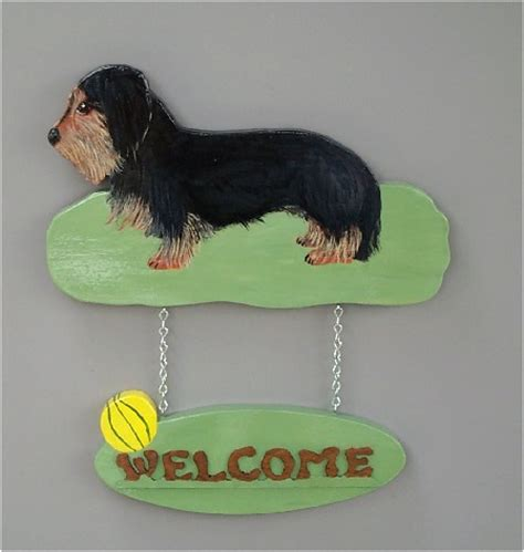 brandydesigns wire haired dachshund welcome sign