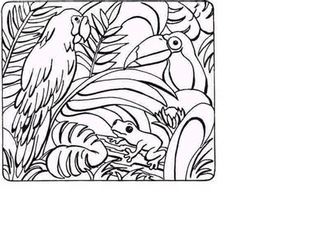 printable coloring pages jungle jungle scene coloring pages coloring home