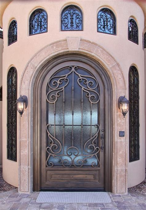 Tuscan Front Doors Tuscan Iron Entry Door By Impression Security Doors Mediterranean Front Doors