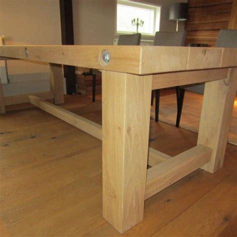 tafel van balken houten tafel van eiken balken