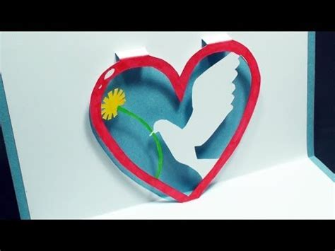 Valentines Cards Templates 3d by How To Make A Dove Pop Up Card Free Template
