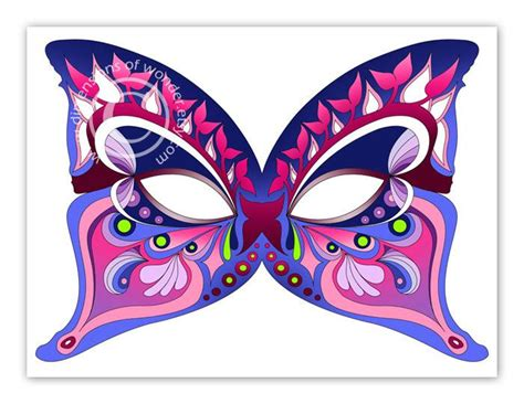 Print Mask printable masks butterfly by dimensions of
