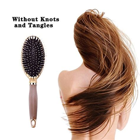Drying Curly Hair With A Brush by Bibtim Boar Bristle Paddle Hair Brush For And